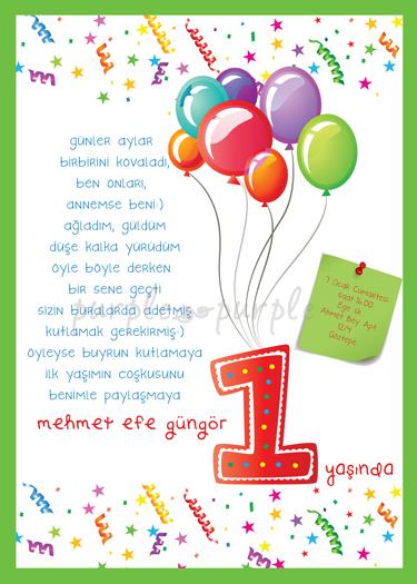 Efe' nin doğum günü davetiyesi