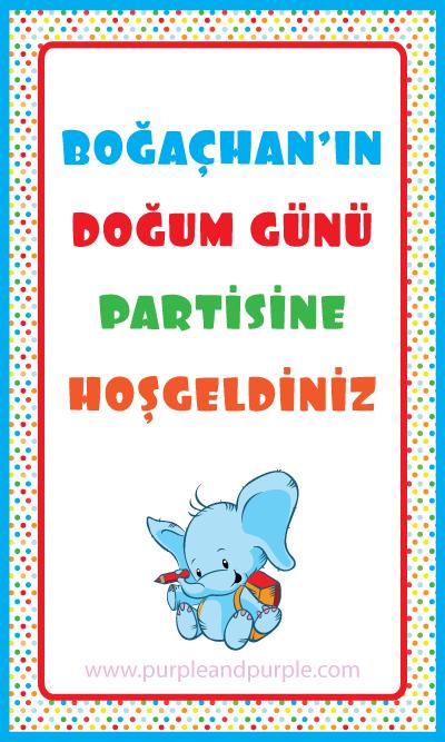 Boğaçhan'ın doğum günü ürünleri