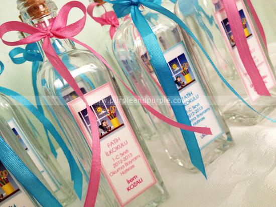 Okuma Bayramı hatırası minik şişeler – Fatih İlkokulu