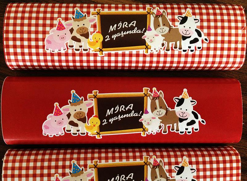 Çiftlik Temalı Parti Çikolataları