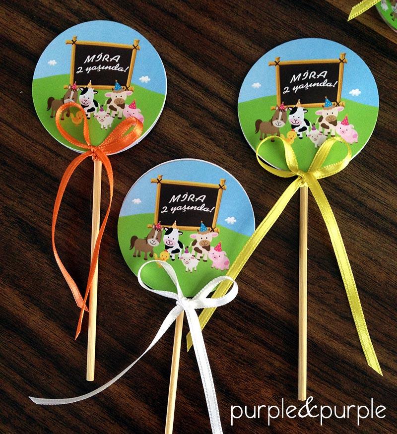 Çiftlik Temalı Cupcake Çubukları