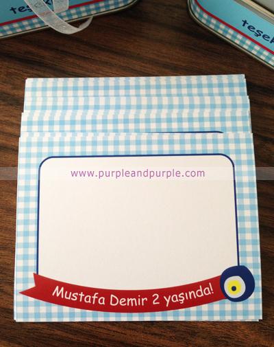 Mustafa Demir'in 2 yaş doğum günü hediyelikleri