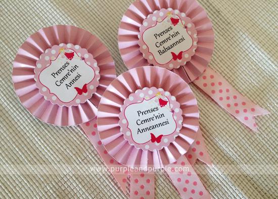Müge Hanım'ın peri temalı baby shower ürünleri