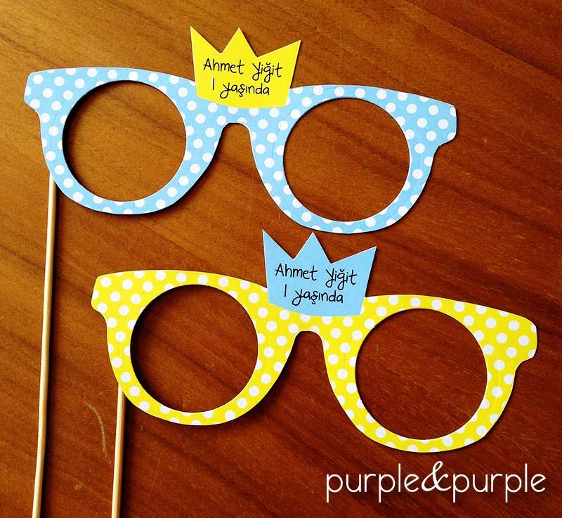 Prens Taçlı Parti Gözlükleri