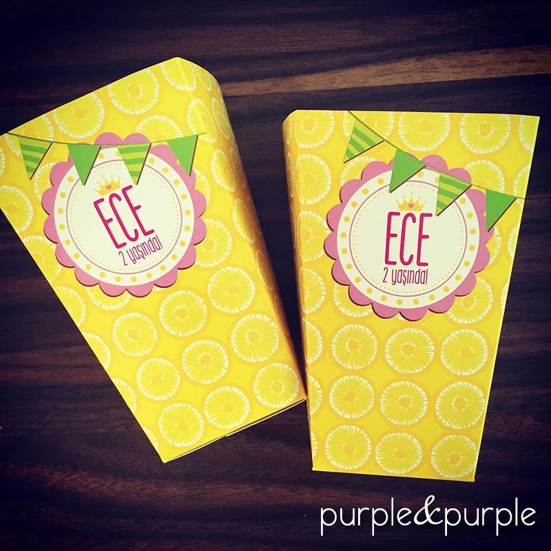 limonata temalı popcorn kutusu