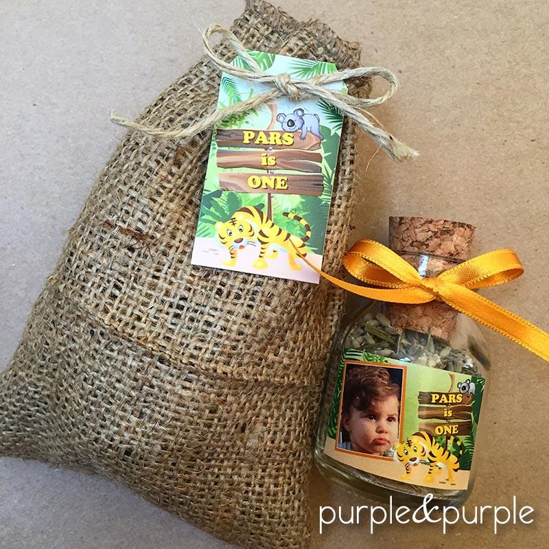 Safari temalı doğum günü hediyelikleri