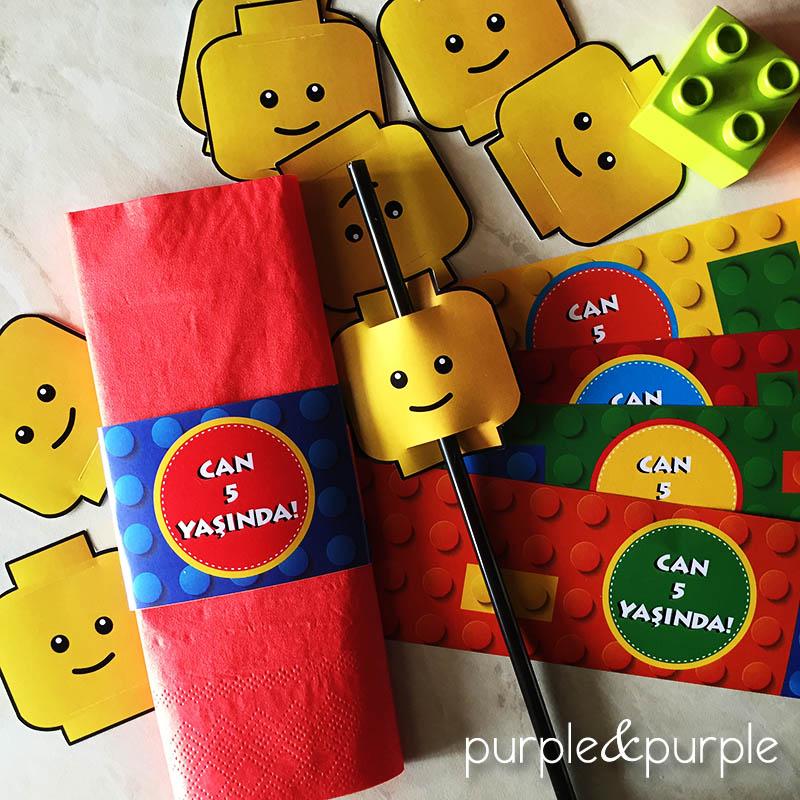 Lego temalı peçete sargısı