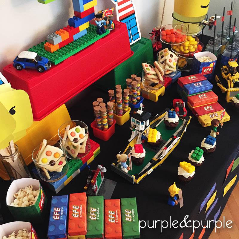 Lego Temalı Kurabiyeler, Çikolata ve Şekerler