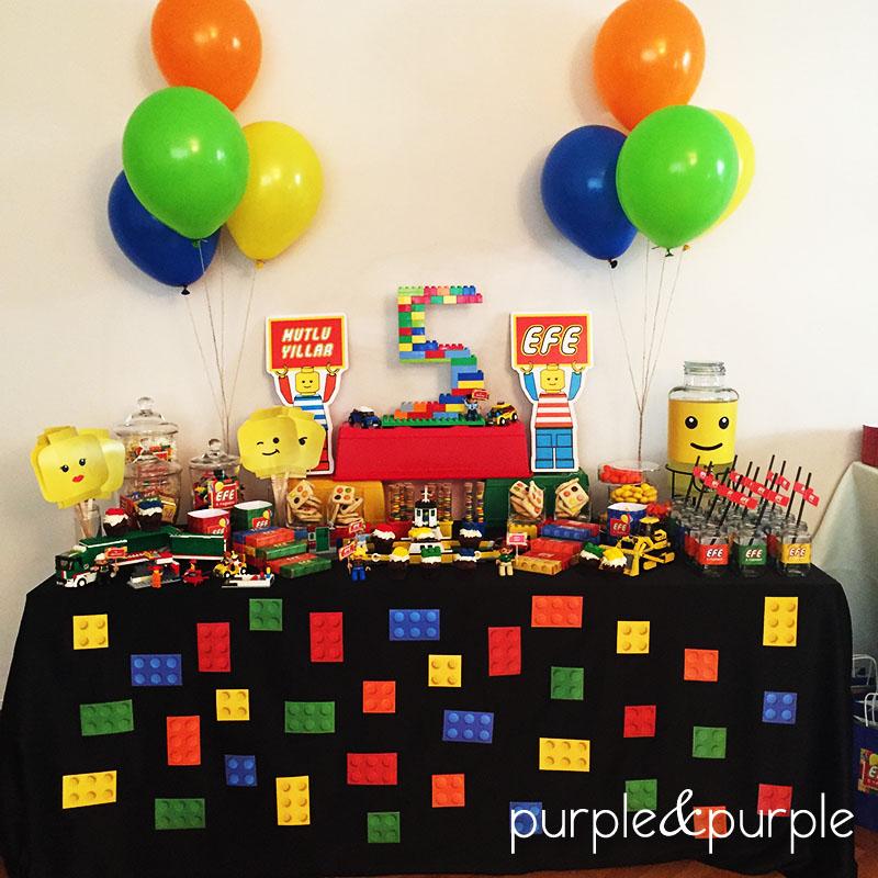 Lego Temalı Şeker Büfesi