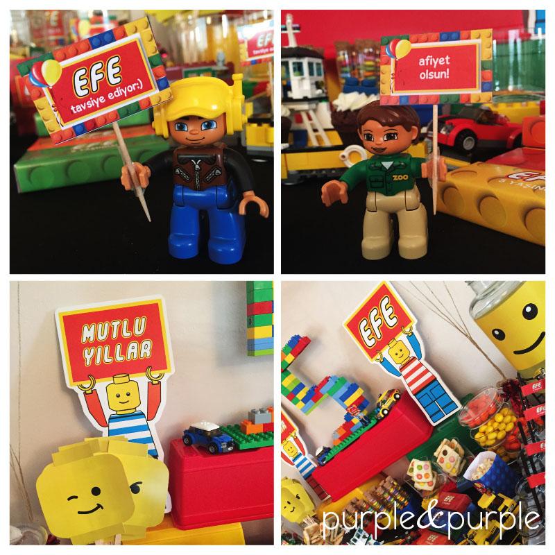 Legoman Parti Süsleri